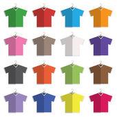 V neck tshirts — Stock Vector