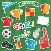 Football stickers — Stock Vector