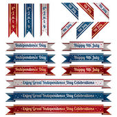 Independence day ribbons — Stock Vector