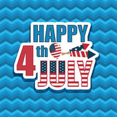 Fourth of july decoration — Vector de stock