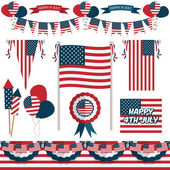 Usa decorations — Stock Vector