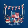 Fourth of july decoration — Stock Vector #48677343