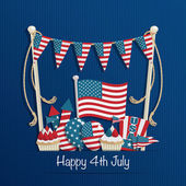 Fourth of july decoration — Stockvector