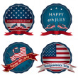 Fourth of july badges — Stock Vector #48722861