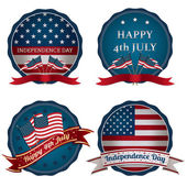 Fourth of july badges — Vecteur