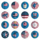 Usa badges — Stock Vector