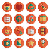 Round media icons — Stock Vector
