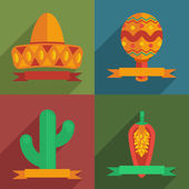 Mexican cards — Stock Vector