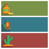 Mexican banners — Stock Vector