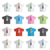 Shirts and ties — Stock Vector