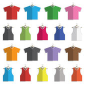 Tshirts and vests — Stock Vector