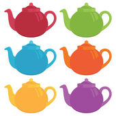 Teapots — Vector de stock