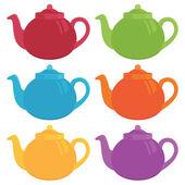 茶壶 — 图库矢量图片