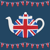 Uk teapot — Stock Vector