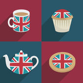 Uk decorations — Stock Vector