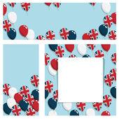 Banderas globos uk — Vector de stock