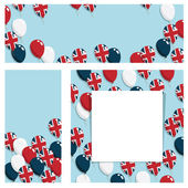 Uk balloon banners — Vector de stock