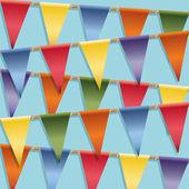 Bunting decoration — Stock Vector