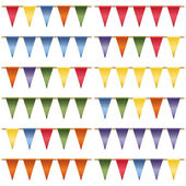 Triangle bunting pack — Stock Vector