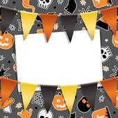 Carte de soirée halloween — Vecteur