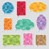 Polygon speech bubbles — Stock Vector