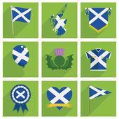 Scotland icons — Stock Vector