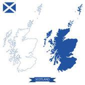 Map of scotland — Stockvector
