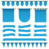 Blue ribbons and banners — Stock Vector