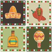 Decoração mexicana — Vetorial Stock