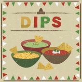 Mexican dips — Stock Vector