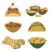 Mexican food — Stock Vector
