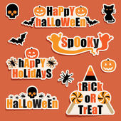 Halloween labels — Stock Vector