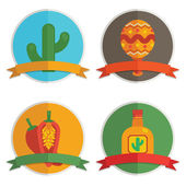 Mexican badges — Stock Vector