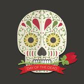 Day fo the dead decoration — Vecteur