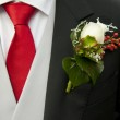 Groom and corsage — Stock Photo #11862888