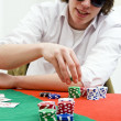 Full tilt poker player — Fotografia Stock  #11864412