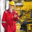Engine room engineer — Stock Photo