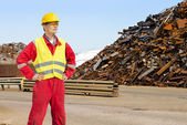 Recycling worker — Stock Photo