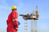 Construcción de plataforma de petróleo — Foto de Stock