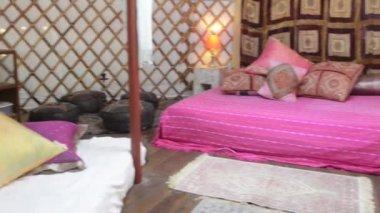 Mongolian Yurt Interior — Stock Video