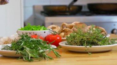 Fresh ingredients — Stock Video