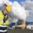 Stock Photo: Geothermal engineering