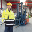 Stock Photo: Forklift operator