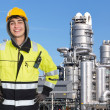Confident petrochemical engineer — Stock Photo
