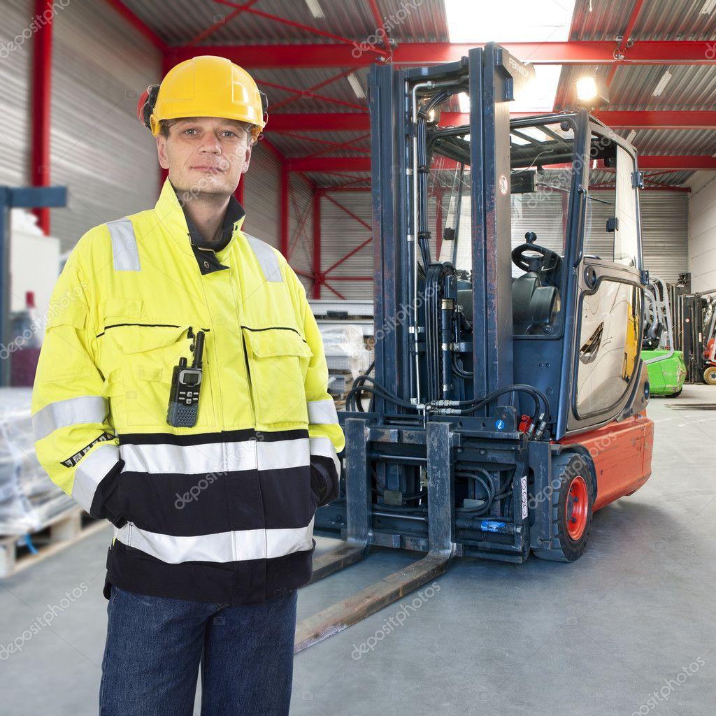 Fork Lift Operator : Forklift operator — stock photo corepics