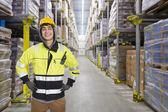 Ouvrier d'entrepôt frigorifique — Photo