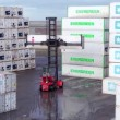 Container terminal — Stock Video