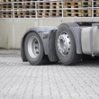 Truck, picking up a trailer - Foto de Stock