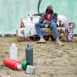 Graffiti paint — Stock Photo