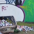 Graffiti wall and artist -  